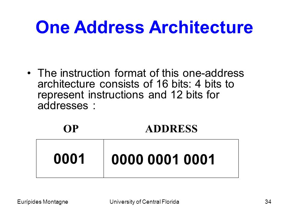 One Address Architecture