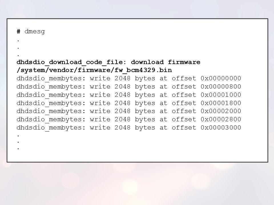 dhdsdio_membytes: write 2048 bytes at offset 0x00000000