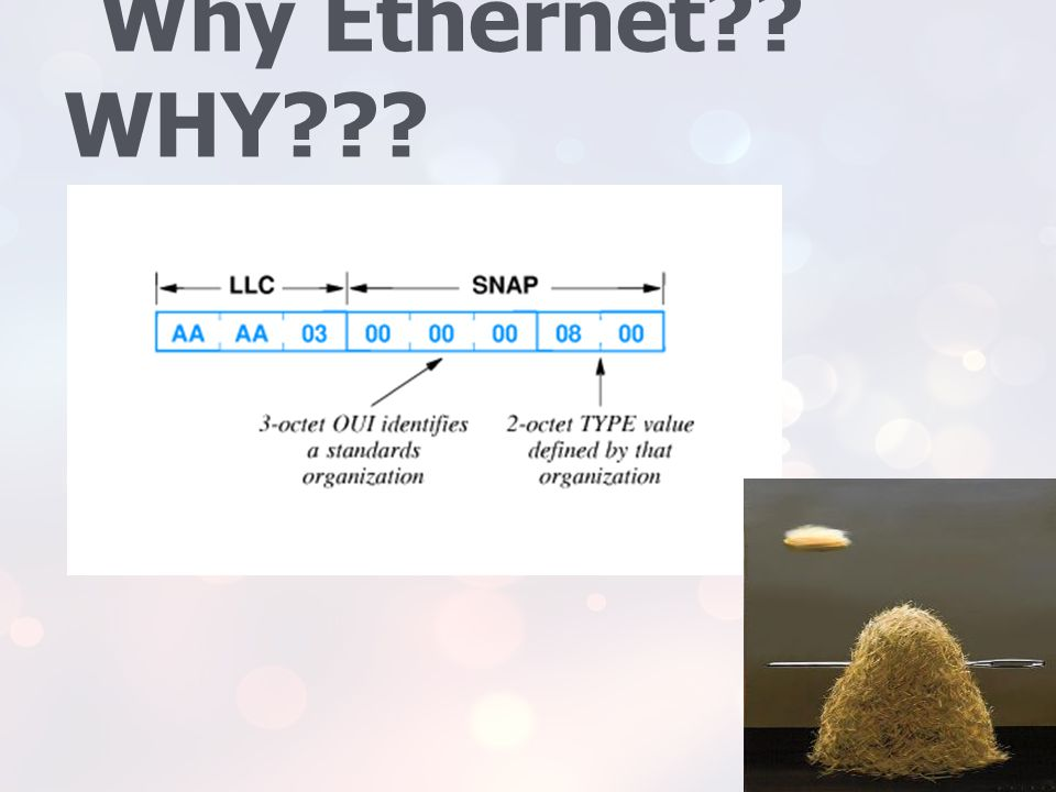 Why Ethernet WHY At this point, we don't know much about the code…and we are trying to find something to hold on to.