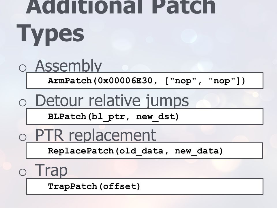 Additional Patch Types