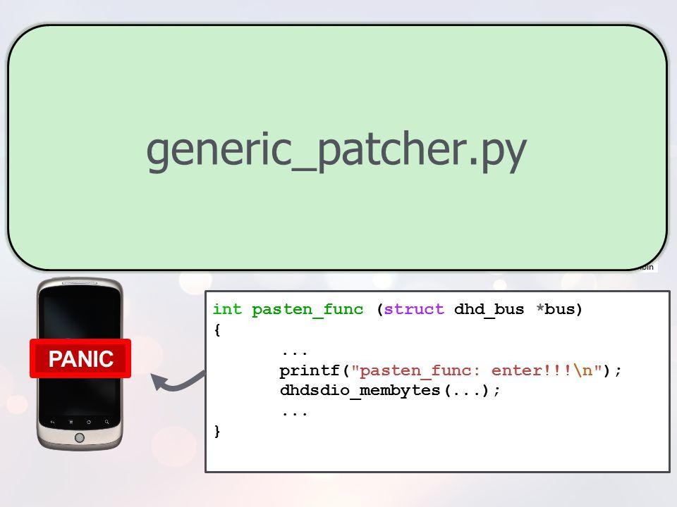 generic_patcher.py PANIC push {r0-r11, lr} ; pre logic