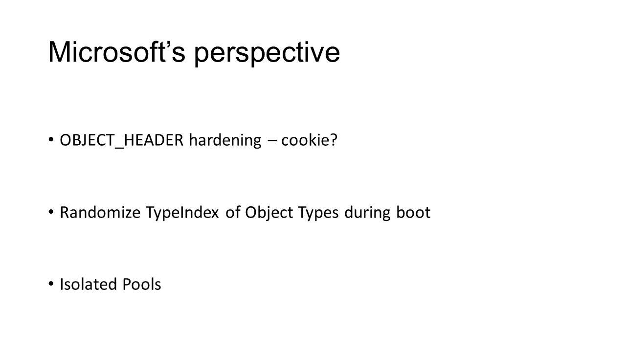 Microsoft's perspective
