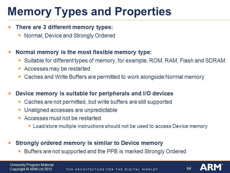 Memory Types and Properties