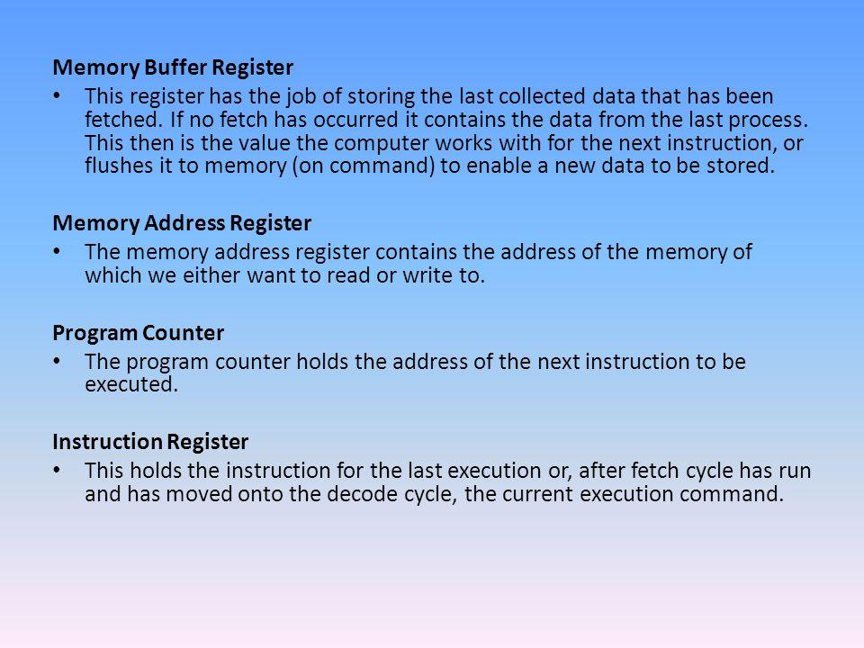 Memory Buffer Register