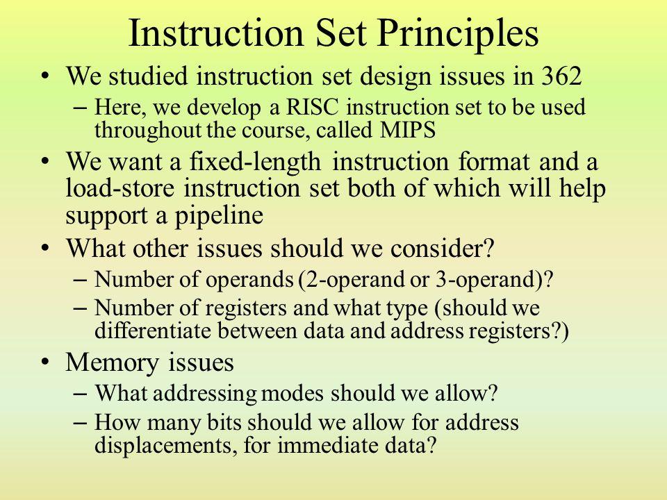Instruction Set Principles