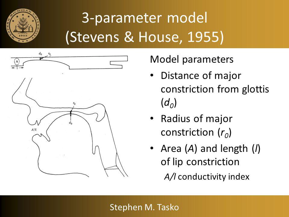 3-parameter model (Stevens & House, 1955)