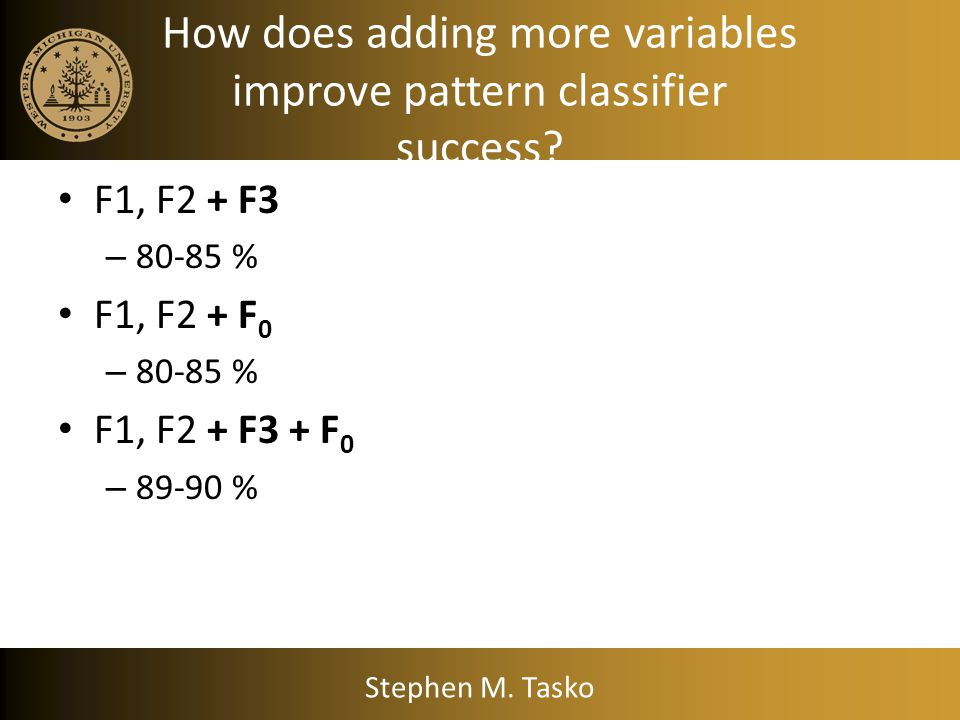 How does adding more variables improve pattern classifier success