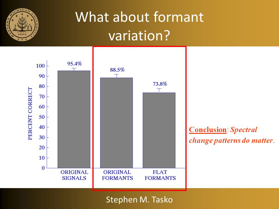 What about formant variation