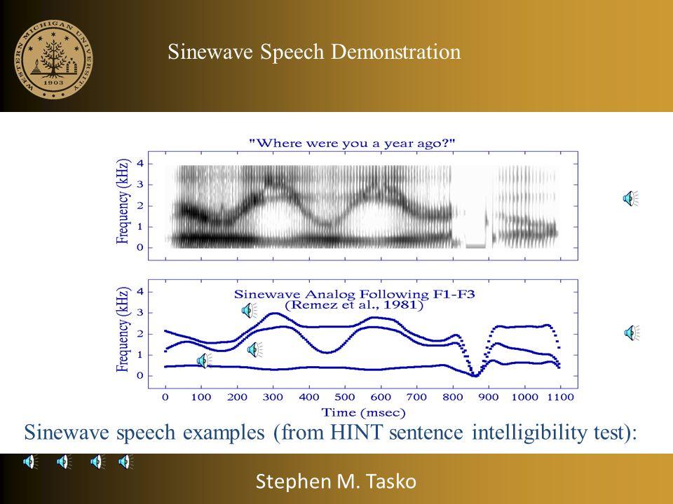 Sinewave Speech Demonstration