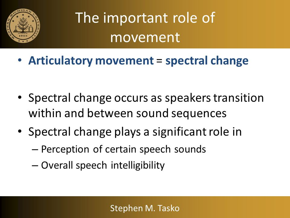 The important role of movement