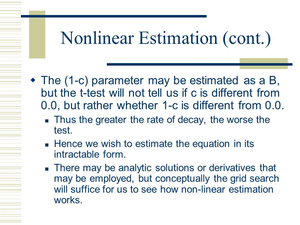 Nonlinear Estimation (cont.)