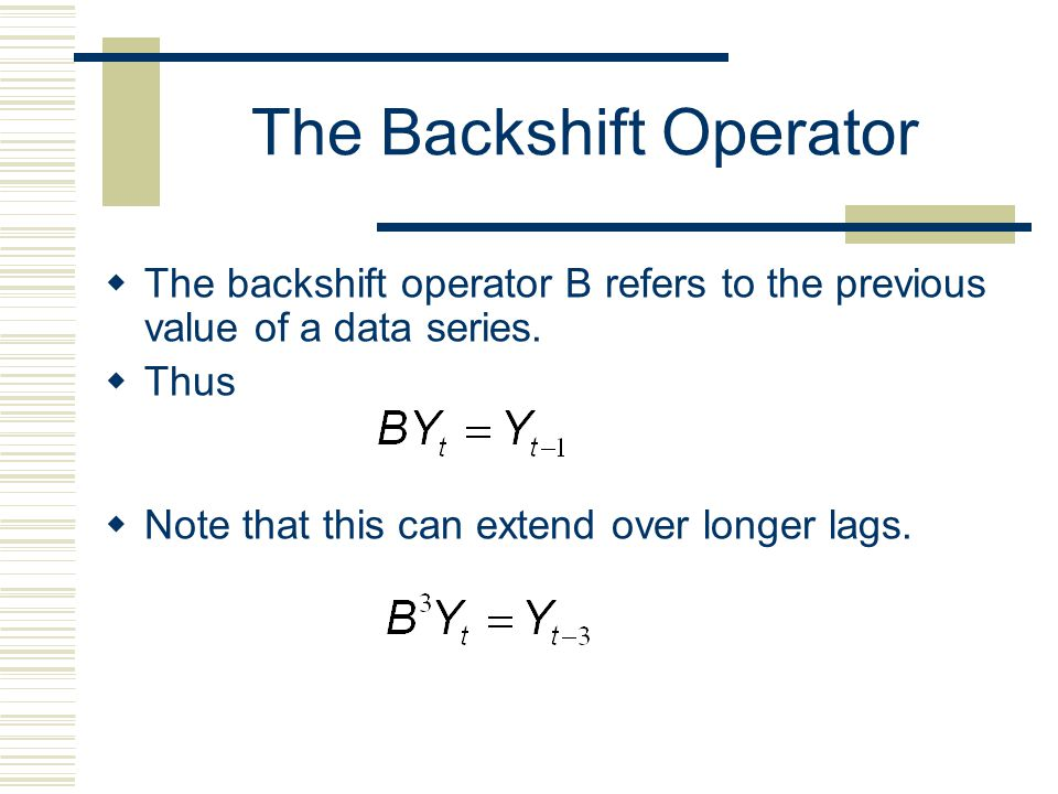 The Backshift Operator