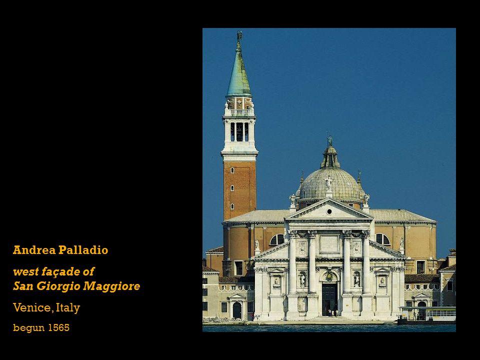 west façade of San Giorgio Maggiore