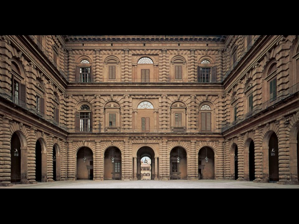Bartolommeo Ammanati. Courtyard of the Palazzo Pitti, Florence