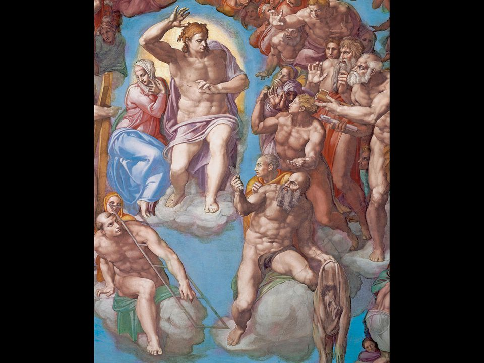 Michelangelo. The Last Judgment (detail, with self-portrait). 1534–41