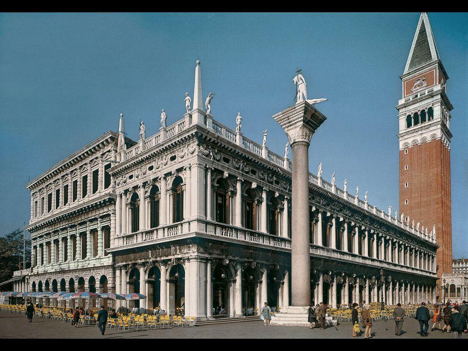 Jacopo Sansovino. Mint (left) and Library of St. Mark's, Venice