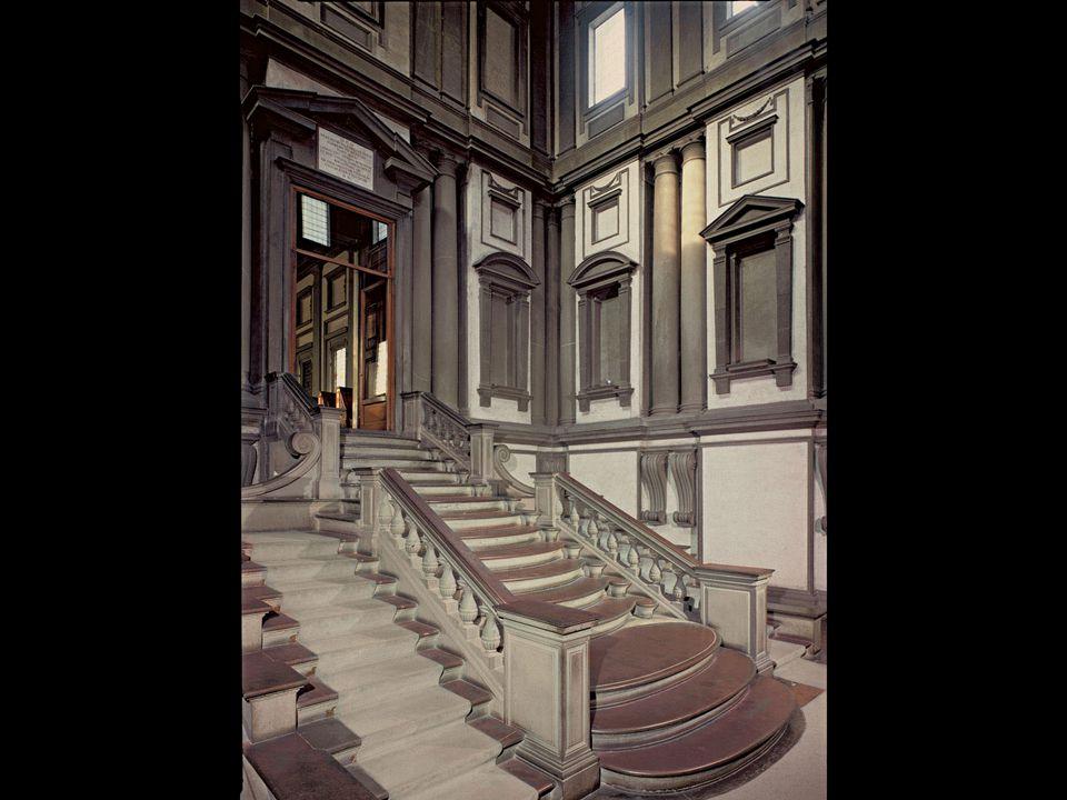 Michelangelo and Bartolommeo Ammanati. Vestibule of the