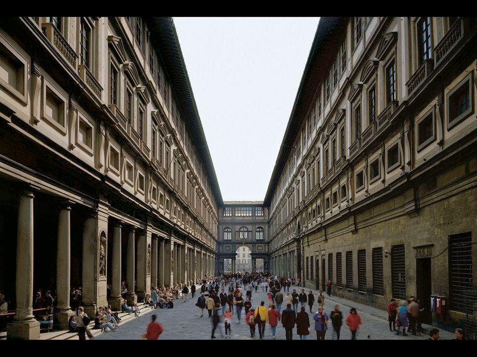 Giorgio Vasari. Courtyard of Uffizi, Florence. Begun 1560