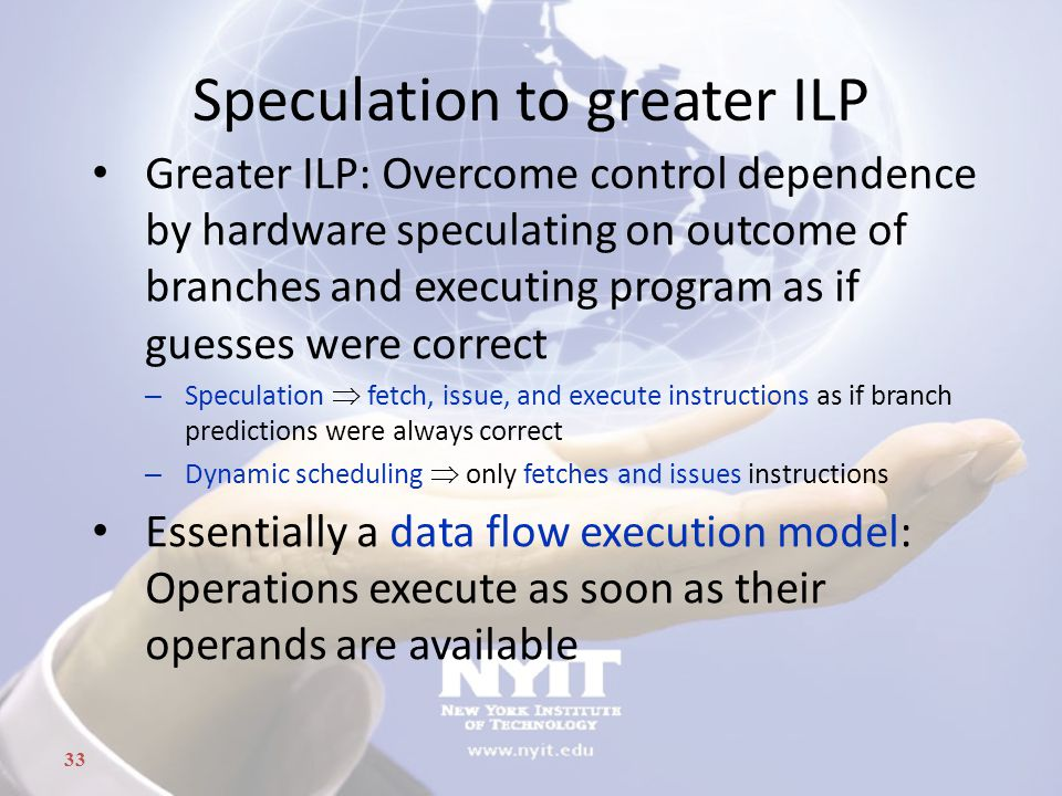 Speculation to greater ILP