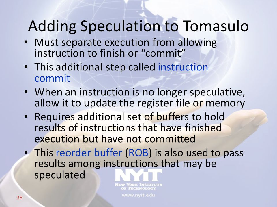 Adding Speculation to Tomasulo