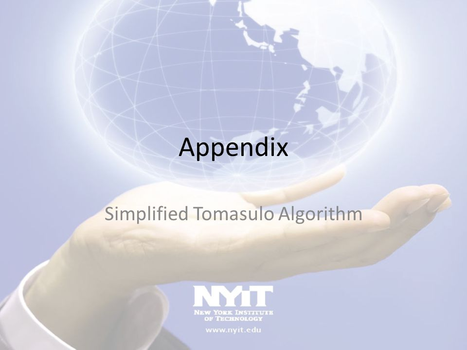 Simplified Tomasulo Algorithm