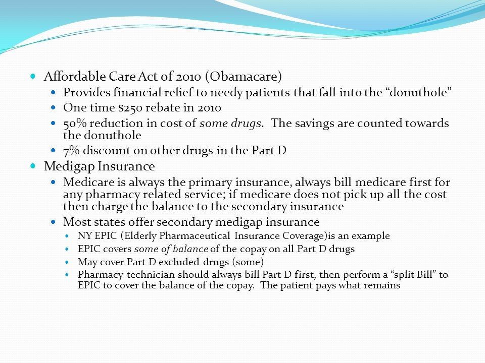 Affordable Care Act of 2010 (Obamacare)