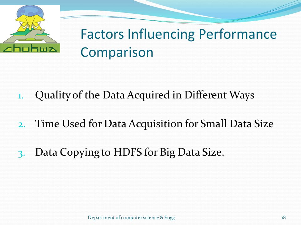 Factors Influencing Performance Comparison