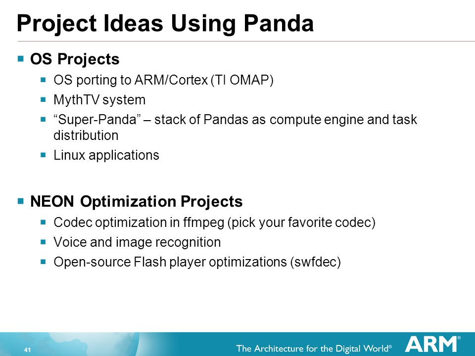 Project Ideas Using Panda