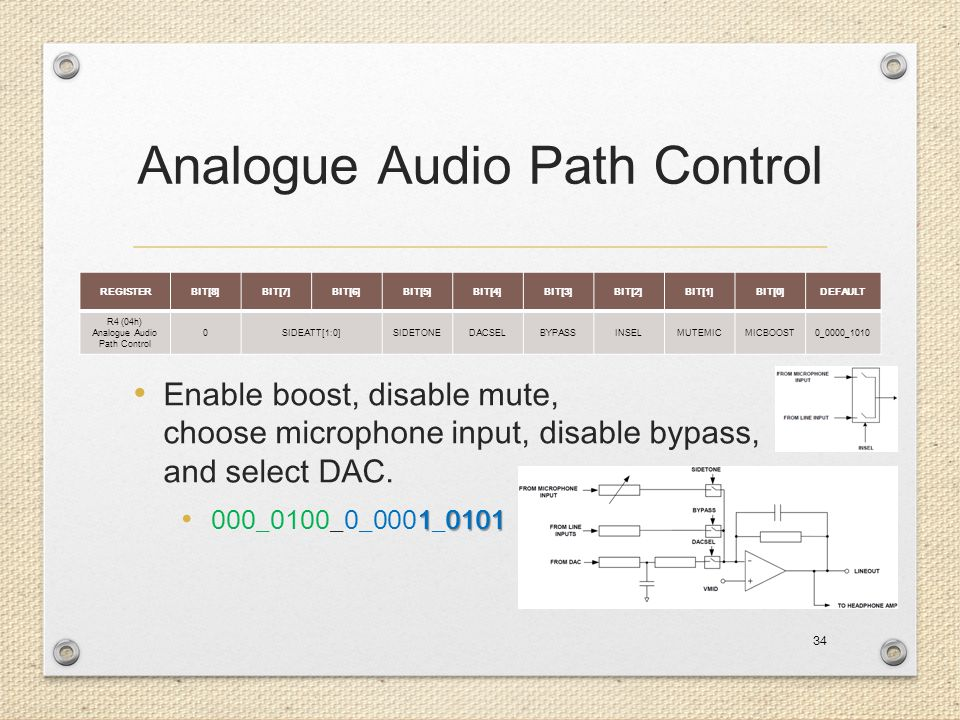 Analogue Audio Path Control