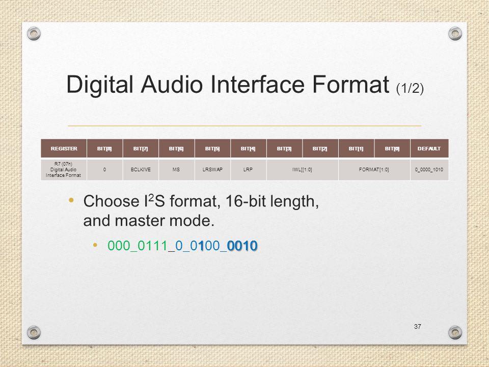 Digital Audio Interface Format (1/2)