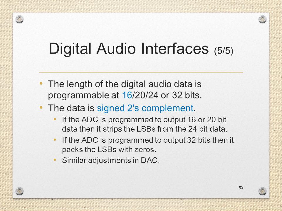 Digital Audio Interfaces (5/5)