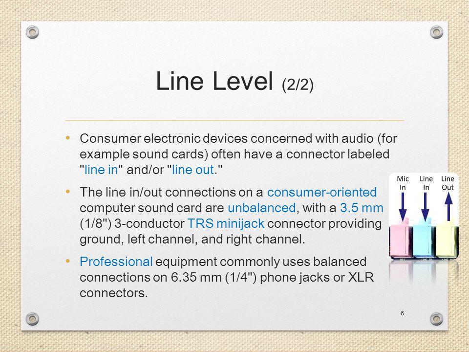 Line Level (2/2)