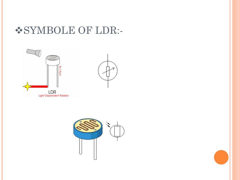 SYMBOLE OF LDR:-