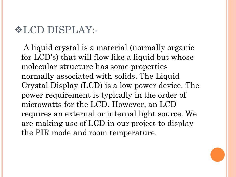 LCD DISPLAY:-