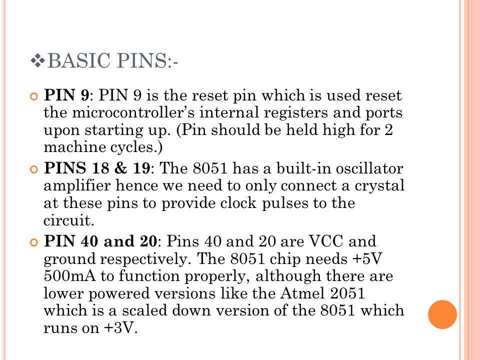BASIC PINS:-