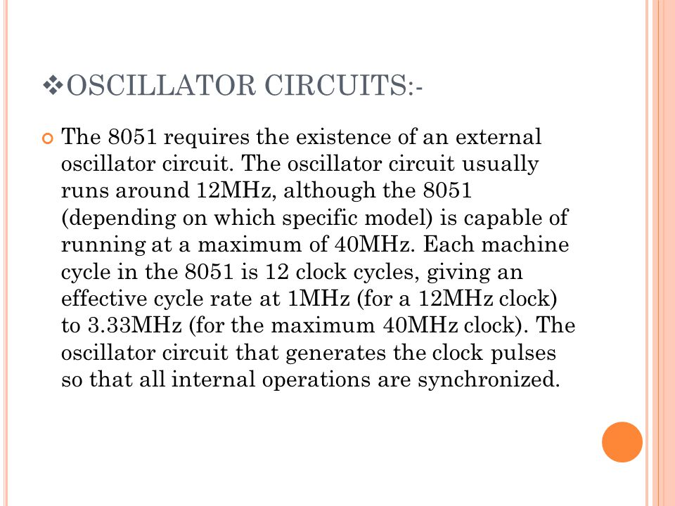 OSCILLATOR CIRCUITS:-