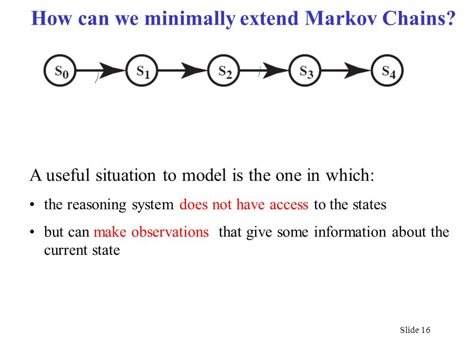 How can we minimally extend Markov Chains