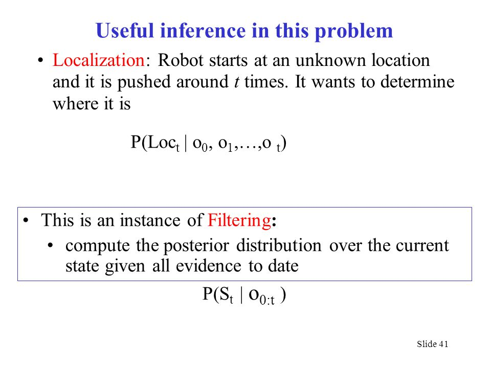 Useful inference in this problem