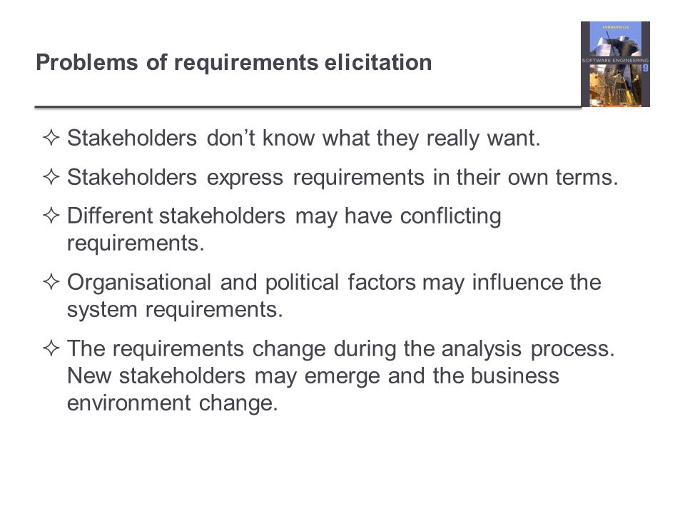 Problems of requirements elicitation