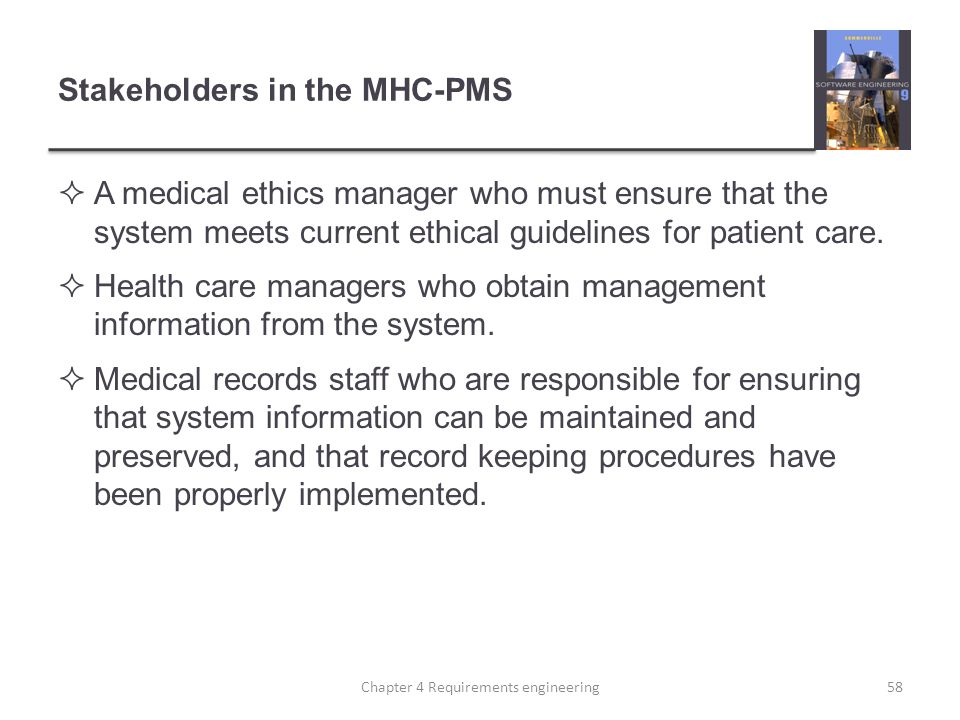 Stakeholders in the MHC-PMS