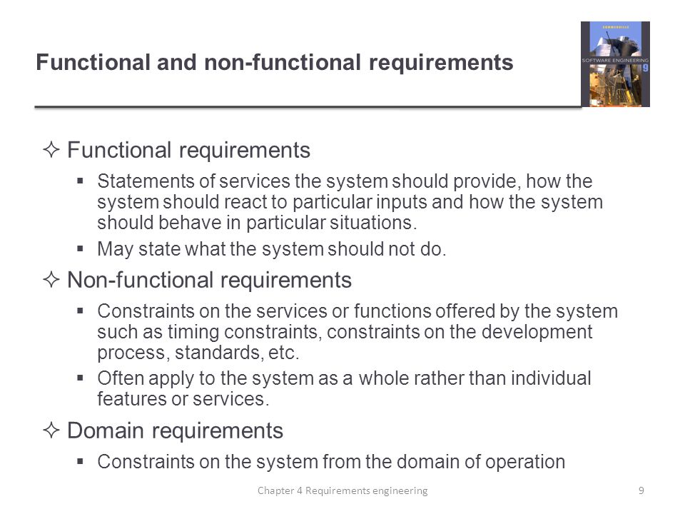 Functional and non-functional requirements