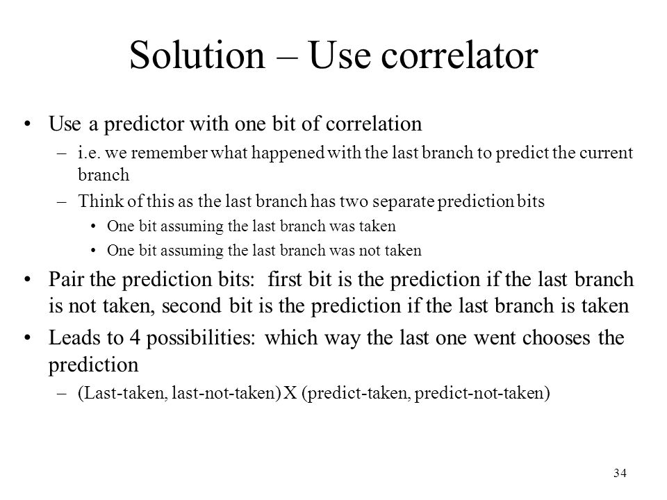 Solution – Use correlator