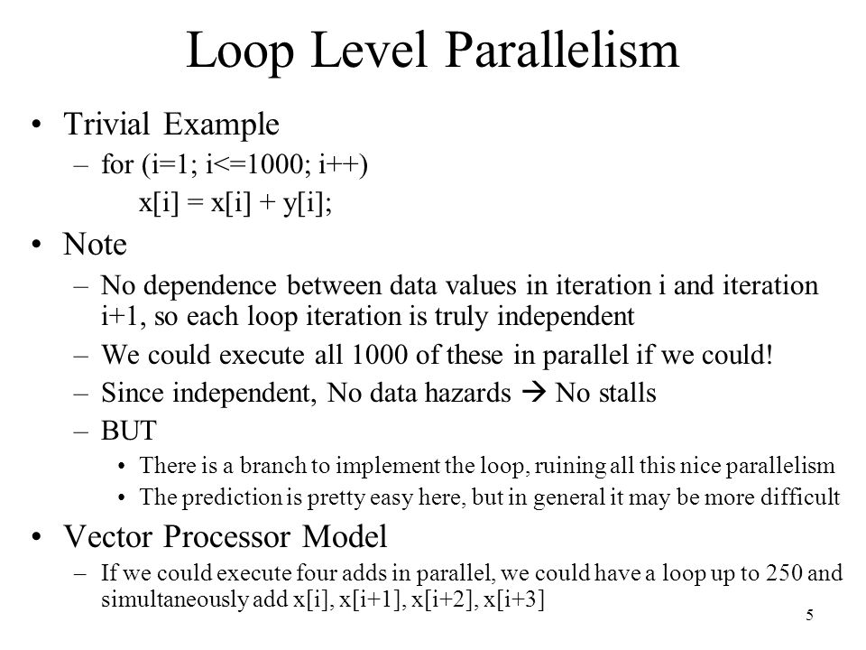 Loop Level Parallelism