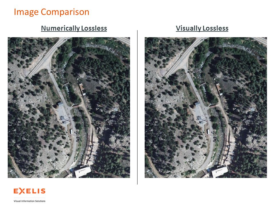 Image Comparison Numerically Lossless Visually Lossless