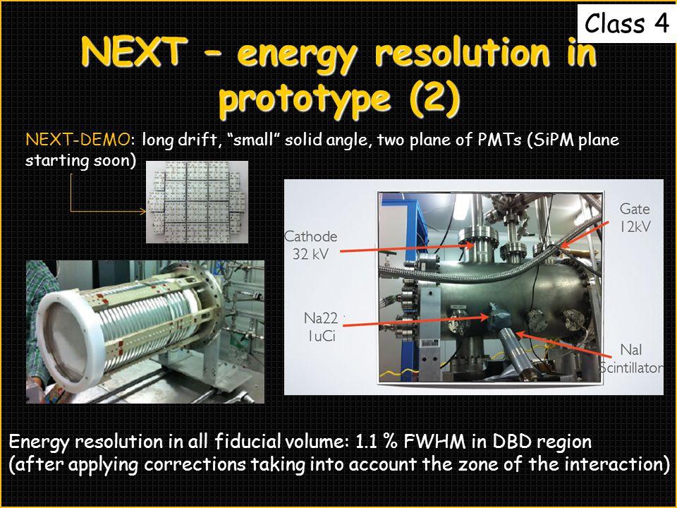 NEXT – energy resolution in prototype (2)