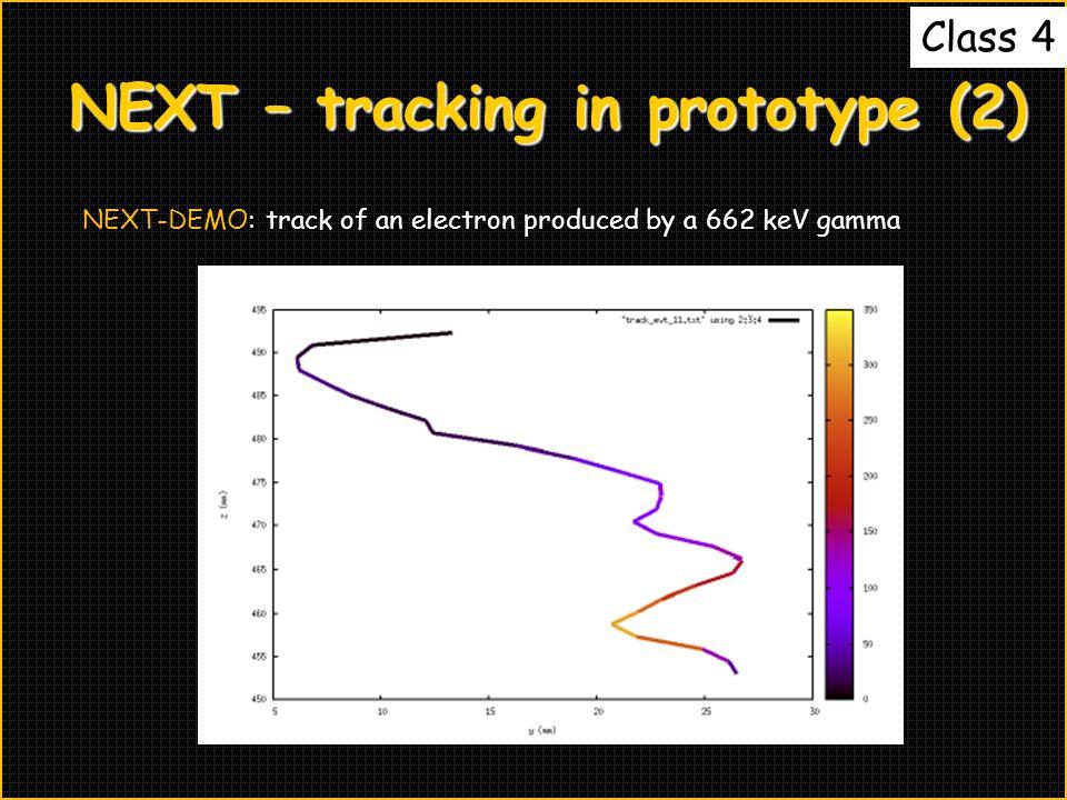 NEXT – tracking in prototype (2)