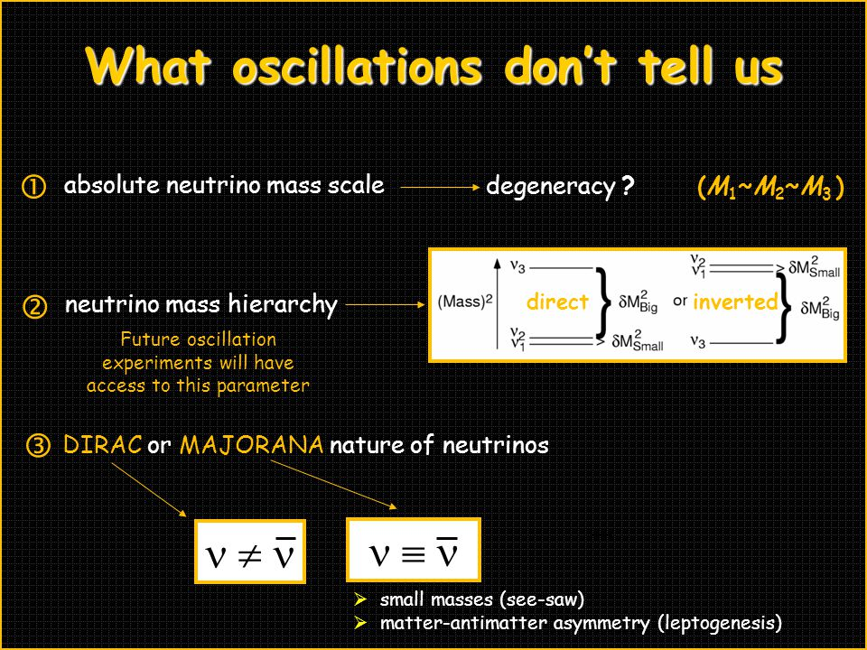 What oscillations don't tell us