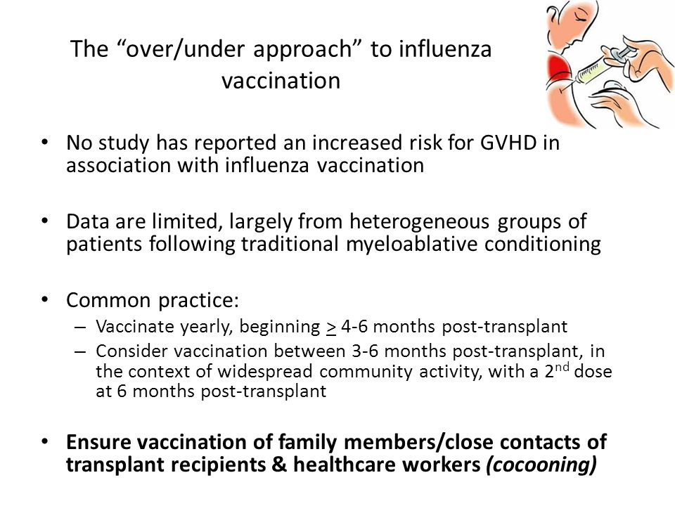 The over/under approach to influenza vaccination