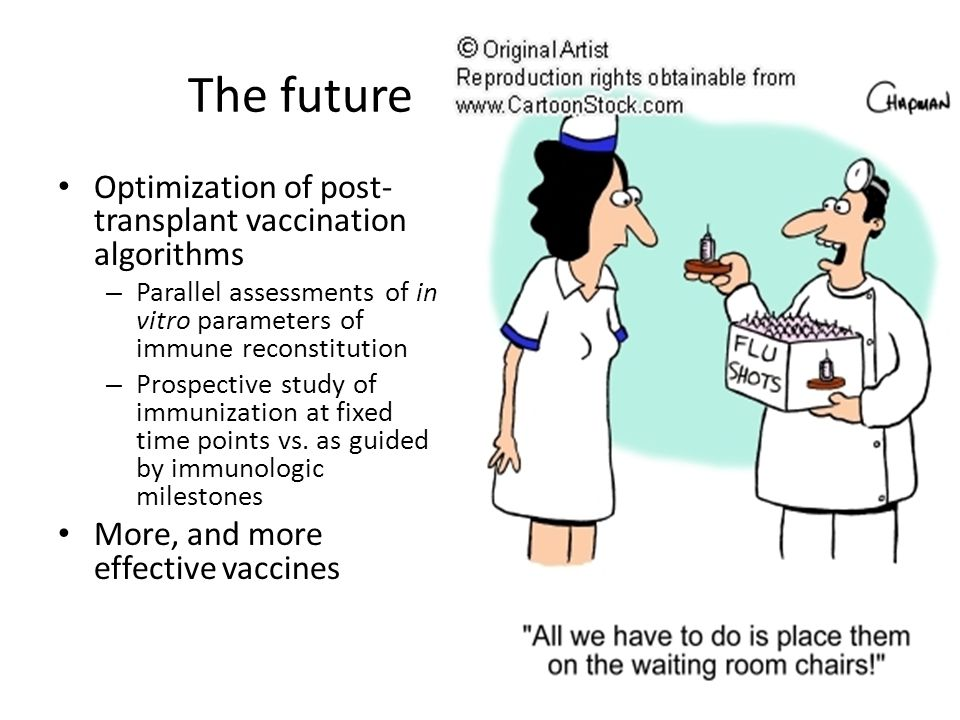 The future Optimization of post-transplant vaccination algorithms
