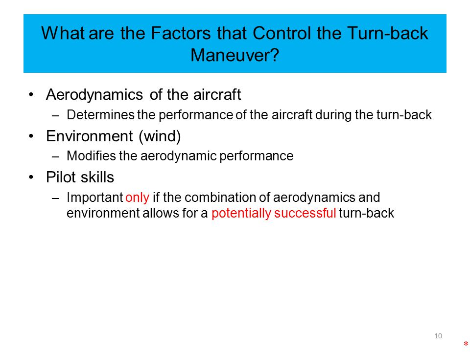 What are the Factors that Control the Turn-back Maneuver